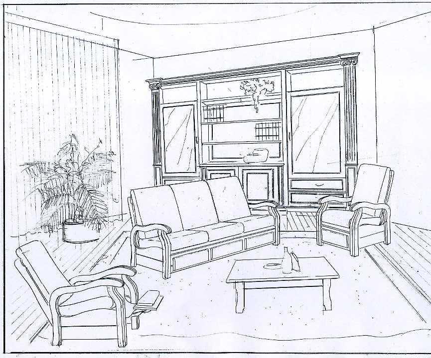Раскраски мебель - 6